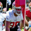 Arik Armstead, Solomon Thomas and Trent Brown attend Von Miller's pass rush summit