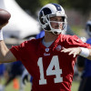 Rams backup quarterback Sean Mannion is off to a strong start in camp