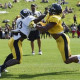 Steelers' first practice with full pads takes toll
