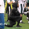 Anthem protests before Bills and Eagles