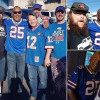 OJ poses for photos with fans in a Buffalo Bills jersey