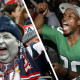 Tale of two cities: Patriots fans vs. Eagles fans