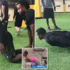 NFL player upstaged by Olympic track star in workout competition