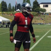 Carolina Panthers' Cam Newton teases reporters and fans in the shade
