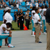 Dolphins WR Albert Wilson again kneels in protest during national anthem