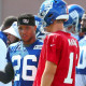Saquon Barkley takes advice from Todd Gurley into camp