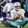 What went wrong for the Dolphins in their game against the Vikings?