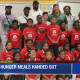 NFL gives food to elementary students